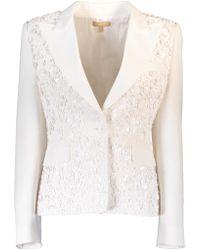 Michael Kors - Embroidered Crepe Jacket - Lyst