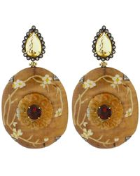 Silvia Furmanovich - Marquetry Floral Earrings - Lyst