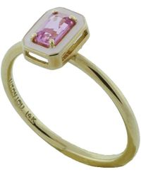 Alison Lou | Pink Sapphire And Enamel Ring | Lyst