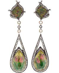 Sevan Biçakci - Carved Tulip Mosaic Earrings - Lyst