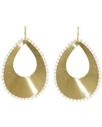Irene Neuwirth | Akoya Pearl And Pear Shaped Gold Earrings | Lyst