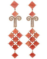 Wendy Yue - Coral Chandelier Earrings - Lyst