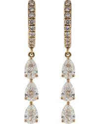 Anita Ko - Pear Shape Diamond Huggies - Lyst