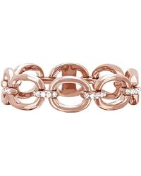 EF Collection - Partial Diamond Chain Link Ring - Lyst