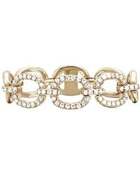 EF Collection - Half Diamond Chain Link Ring - Lyst