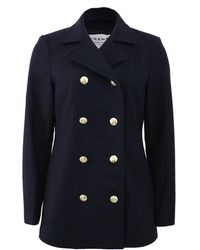 FRAME - Le Double Breasted Peacoat - Lyst