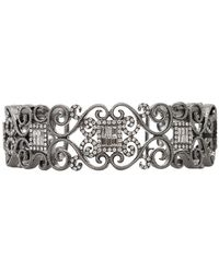 Bochic - Diamond Scroll Cuff Bracelet - Lyst