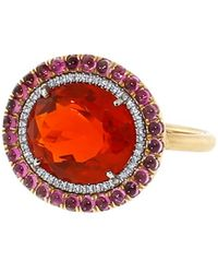 Irene Neuwirth - Fire Opal And Pink Tourmaline Ring - Lyst