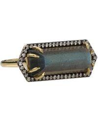 Jemma Wynne - Bar Ring With Emerald Cut Labradorite - Lyst