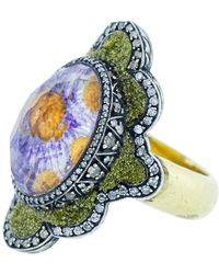 Sevan Biçakci - Carved Flower Ring - Lyst