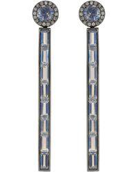 Katherine Jetter - Moonstone And Diamond Stiletto Earrings - Lyst