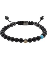 Shamballa Jewels - Onyx And Turquoise Bracelet - Lyst