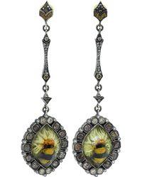 Sevan Biçakci - Bumble Bee On Sunflower Earrings - Lyst
