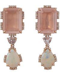 Dana Rebecca - Courtney Lauren Quartz And Opal Earrings - Lyst