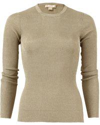 Michael Kors - Tissue Metallic Sweater - Lyst