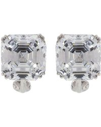 Fantasia Jewelry - Cubic Zirconia Square Stud Earrings - Lyst