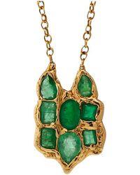 Lucifer Vir Honestus - Emerald Owl Pendant Necklace - Lyst