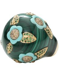 Wendy Yue - Malachite And Turquoise Ring - Lyst