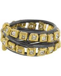 Boaz Kashi - Princess Diamond Wire Wrap Ring - Lyst