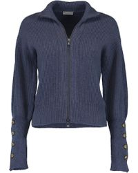 Brunello Cucinelli - Zip Up Cropped Cardigan - Lyst