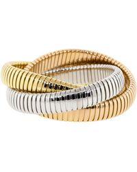 Sidney Garber - Three Band Tri-color Rolling Bracelets - Lyst