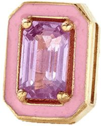 Alison Lou - Pink Sapphire And Enamel Stud - Lyst