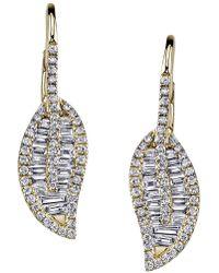 Anita Ko - Diamond Leaf Drop Earrings - Lyst