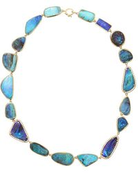Irene Neuwirth Boulder Opal And Diamond Necklace