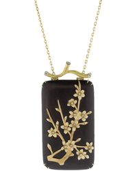 Silvia Furmanovich - Marquetry Floral Pendant Necklace - Lyst