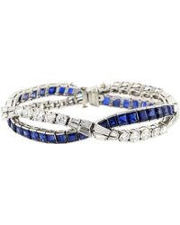 Fred Leighton - Diamond And Sapphire Wave Bracelet - Lyst
