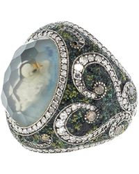 Sevan Biçakci - Carved Swan Ring In Moonstone - Lyst