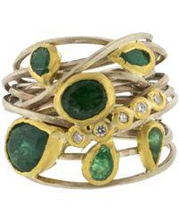 Boaz Kashi - Diamond Wire Wrap Ring - Lyst