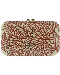 Silvia Furmanovich - Marquetry Red Coral Clutch - Lyst