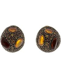 Yossi Harari - Roxanne Fire Opal Stud Earrings - Lyst