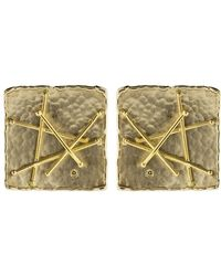 Boaz Kashi - Square Criss Cross Stud Earrings - Lyst