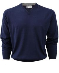 Brunello Cucinelli | V-neck Fine Gauge Sweater | Lyst