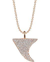 Anita Ko - Diamond Thorn Pendant Neckalce - Lyst