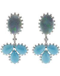 Dana Rebecca - Turquoise & Opal Earrings Earrings - Lyst