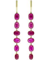 Gemfields X Muse - Long Ruby Drop Earrings - Lyst