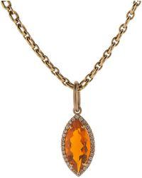 Irene Neuwirth - Fire Opal And Diamond Pendant - Lyst
