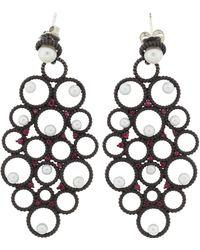 Gemfields X Muse - Nancy Newberg Ruby And Pearl Earrings - Lyst