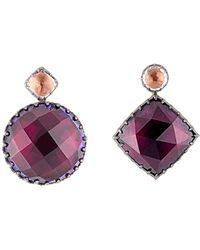 Larkspur & Hawk - Sadie Mis-matched Scarlet Earrings - Lyst