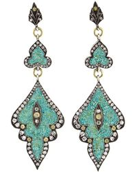 Sevan Biçakci - Turquoise Mosaic Shield Earrings - Lyst