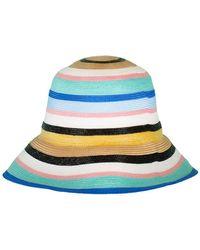 Hot Emilio Pucci - Striped Hat - Lyst 9d4dd1c66ad5