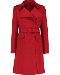 Stella McCartney - Wool Belted Coat - Lyst