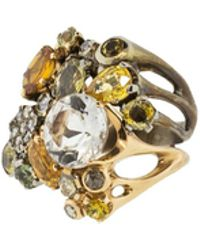 Federica Rettore | Yellow And Green Sapphire Ring | Lyst