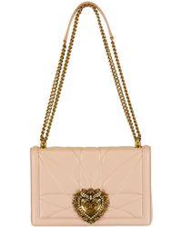 Dolce   Gabbana - Devotion Medium Flap Chain Bag - Lyst 58124802a2fe2