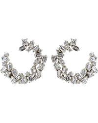 Suzanne Kalan - Diamond Fireworks Spiral Earrings - Lyst