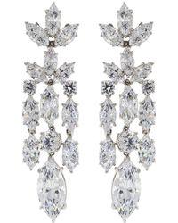 Fantasia Jewelry - Cubic Zirconia Drop Earrings - Lyst