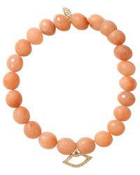 Sydney Evan - Diamond Lips Beaded Bracelet - Lyst